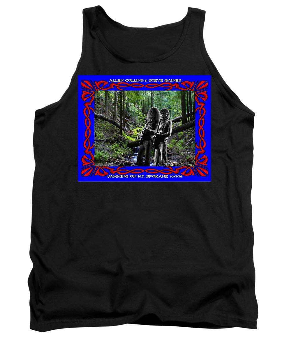 Allen Collins Tank Top featuring the photograph Jamming On Mt. Spokane 1 by Ben Upham