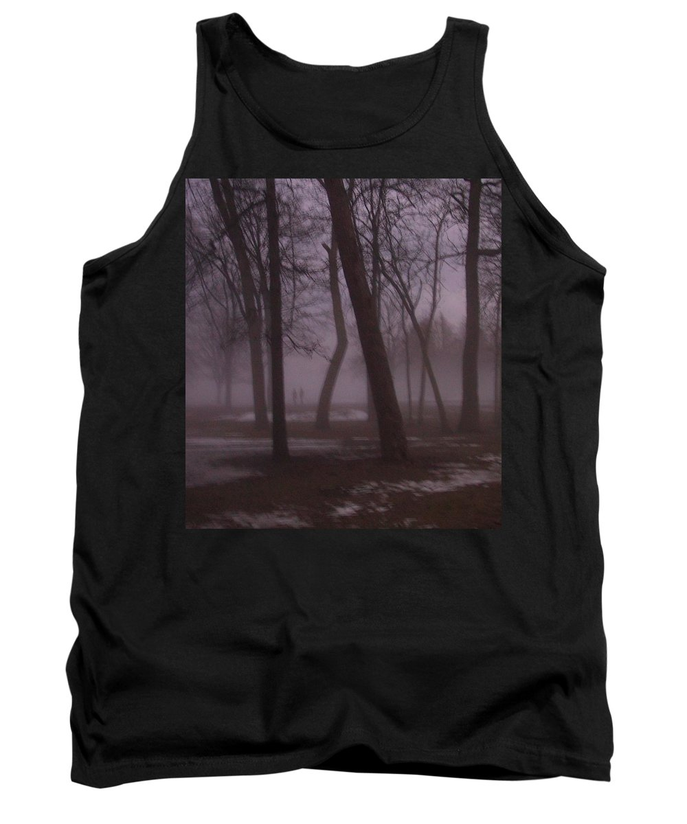 January Tank Top featuring the photograph January Fog 1 by Anita Burgermeister
