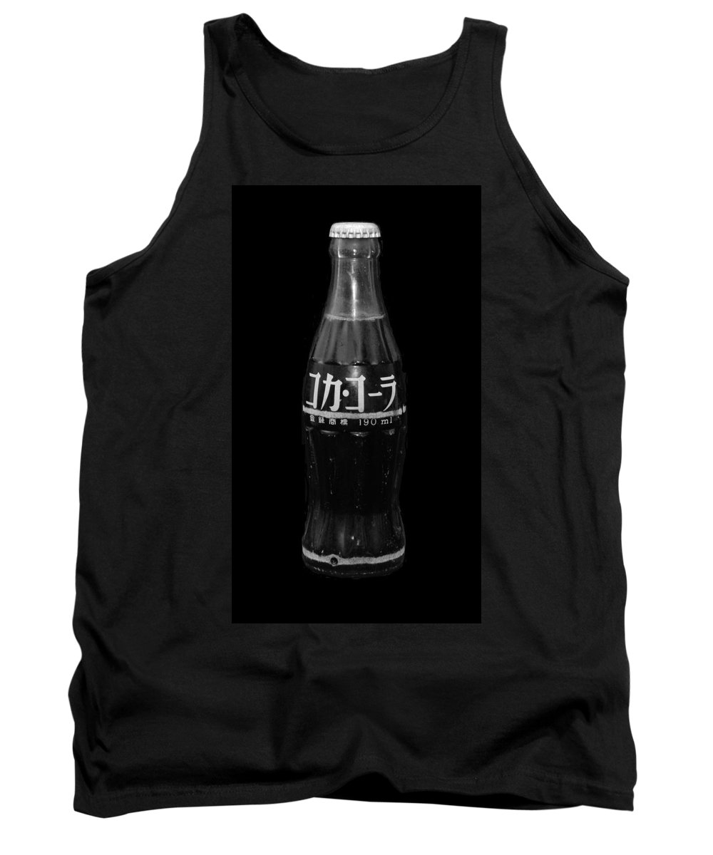 Black And White Tank Top featuring the photograph Japanese Coca Cola by Rob Hans