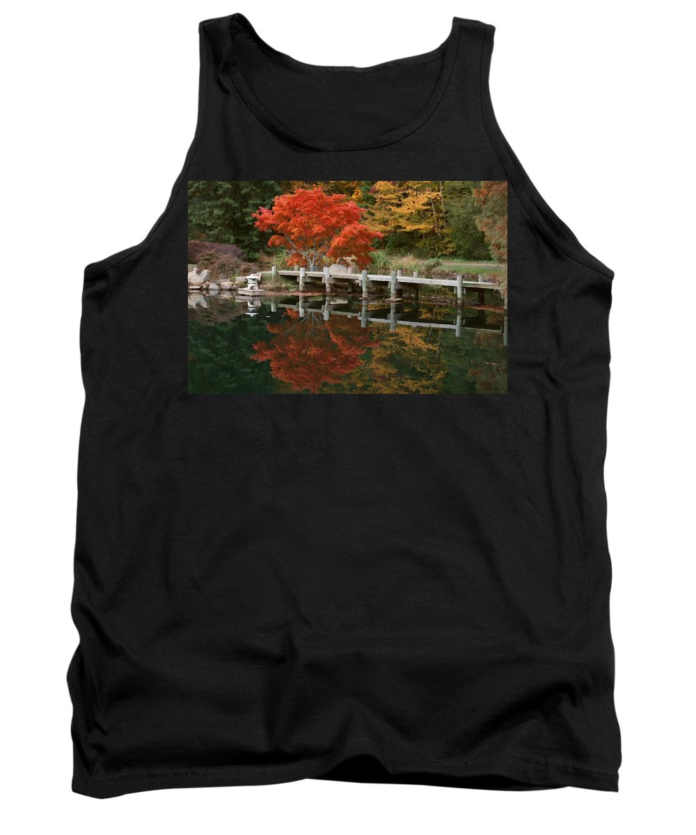 Maymont Tank Top featuring the photograph Japanese Reflection by Tina Meador