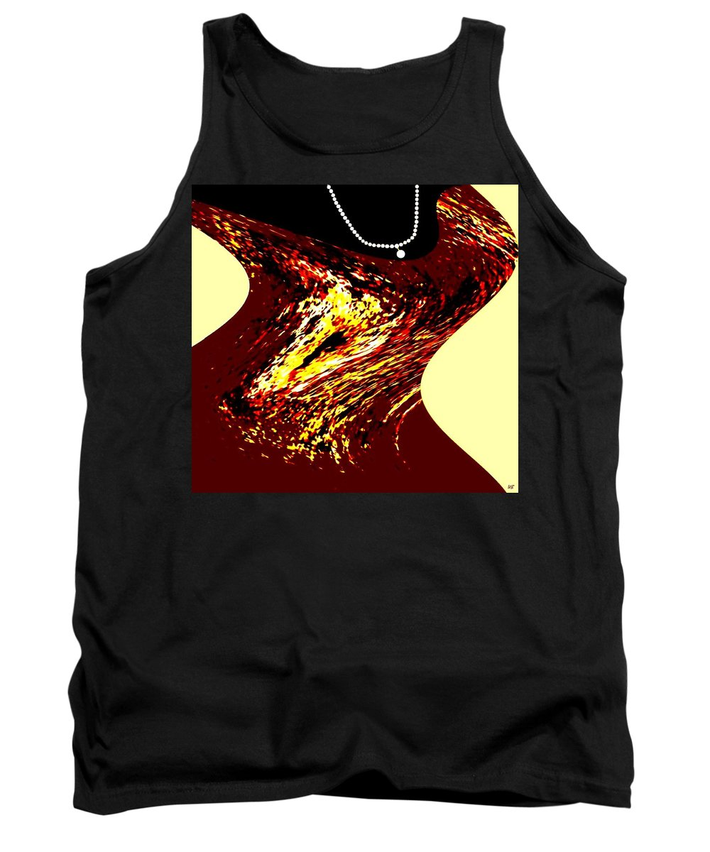 Abstract Tank Top featuring the digital art Jazz Singer by Will Borden