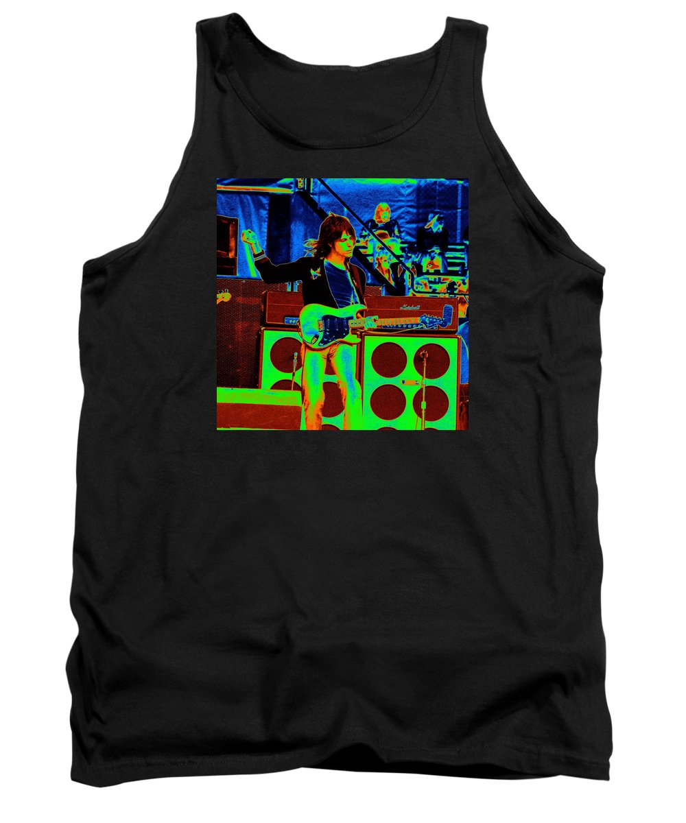 Jeff Beck Tank Top featuring the photograph Live In Concert 1976 by Ben Upham