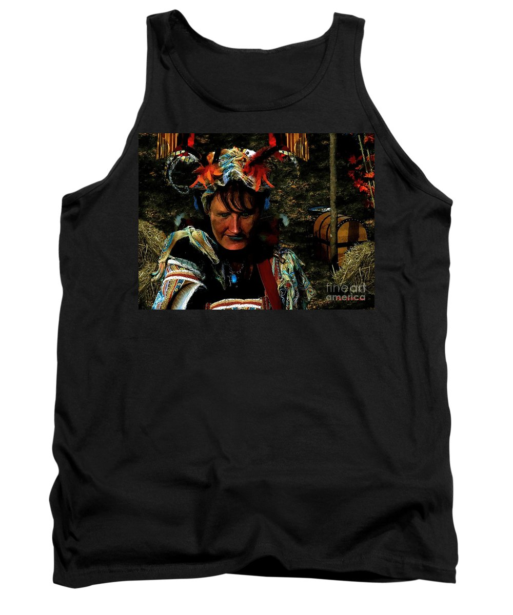 Jester Tank Top featuring the painting Jester Somnolent by RC DeWinter
