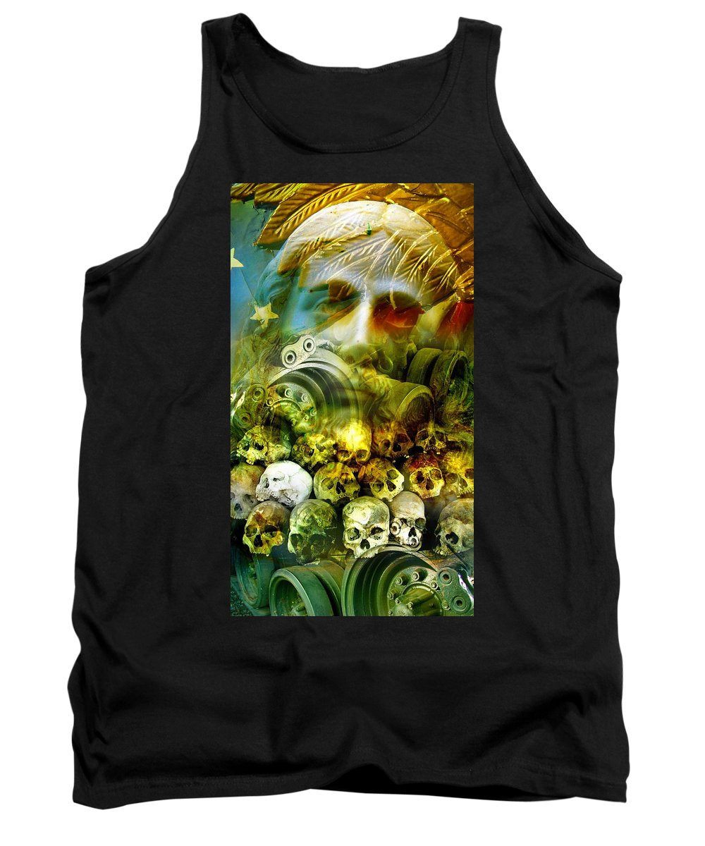 Jesus Tank Top featuring the photograph Jesus Wept by Skip Hunt