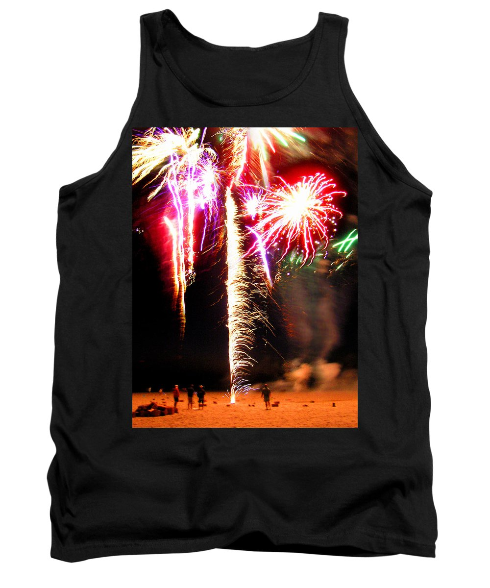 Joe Tank Top featuring the photograph Joe's Fireworks Party 1 by Charles Harden