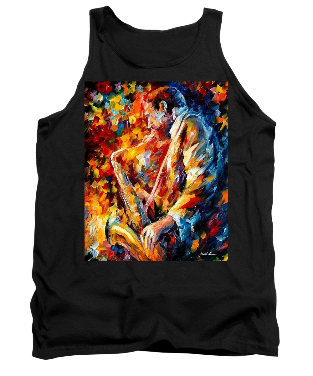 Music Tank Top featuring the painting John Coltrane by Leonid Afremov