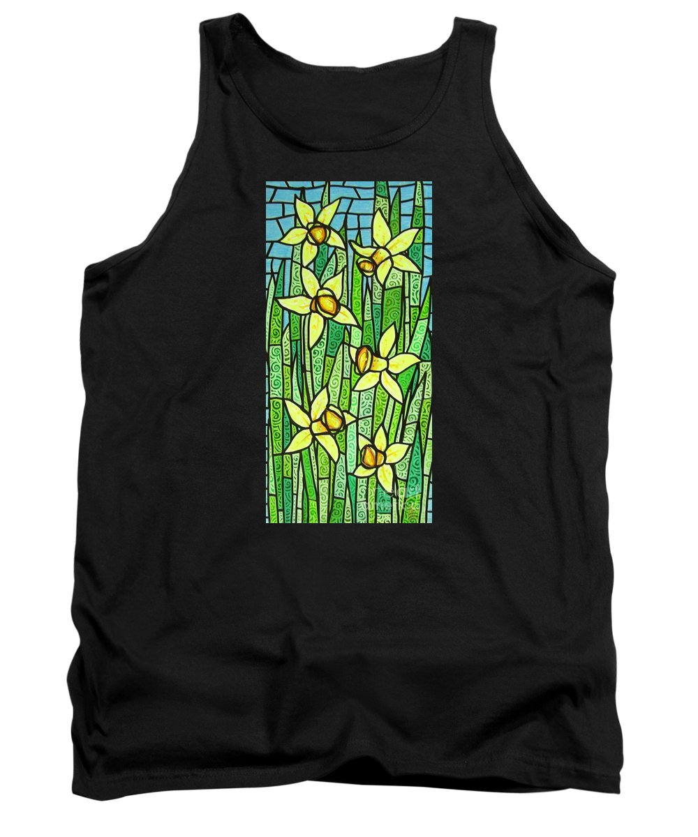 Jonquils Tank Top featuring the painting Jonquil Glory by Jim Harris