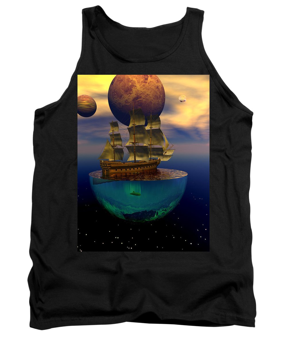 Bryce Tank Top featuring the digital art Journey Into Imagination by Claude McCoy