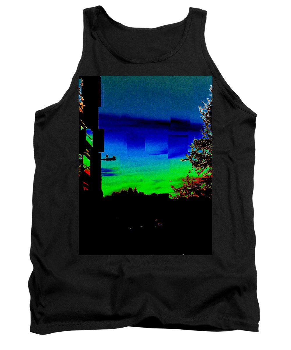 Sunset Tank Top featuring the photograph Joyin The Sunset Together by Tim Allen