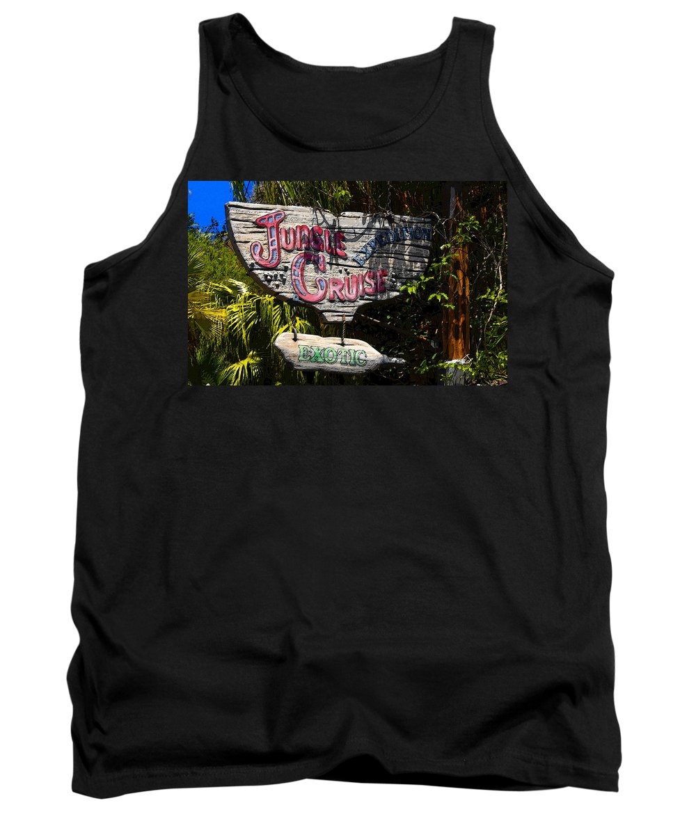 Art Tank Top featuring the painting Jungle Cruise by David Lee Thompson