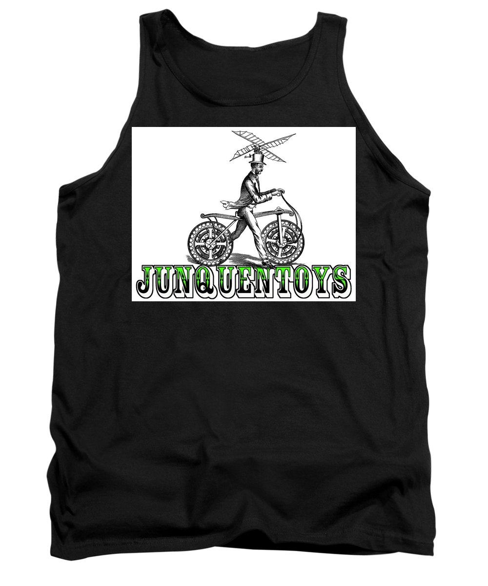 Professor Tank Top featuring the mixed media Junquentoys Bike-o-vator by Damon Steele