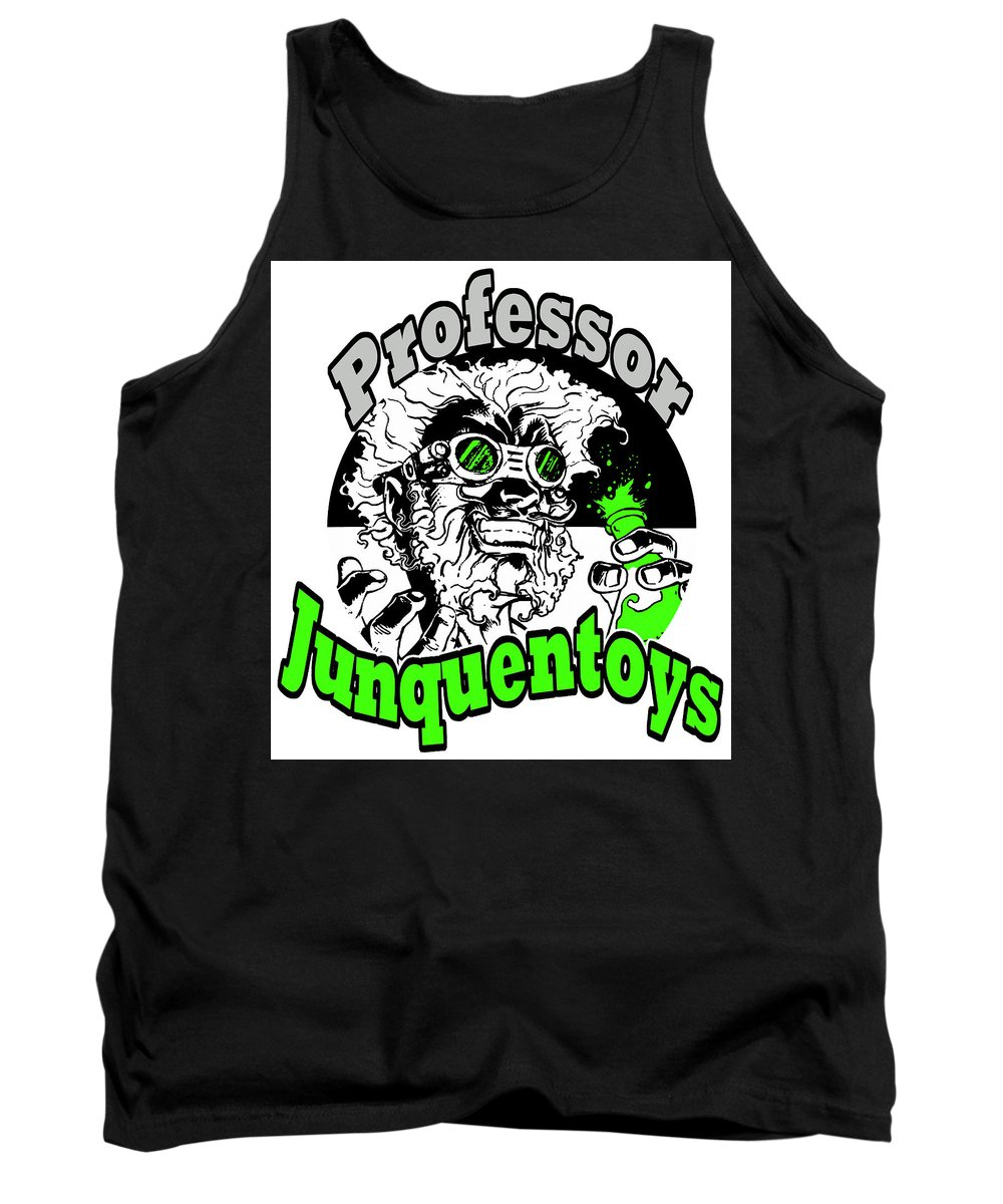 Goggles Tank Top featuring the mixed media Junquentoys Circular Logo by Damon Steele