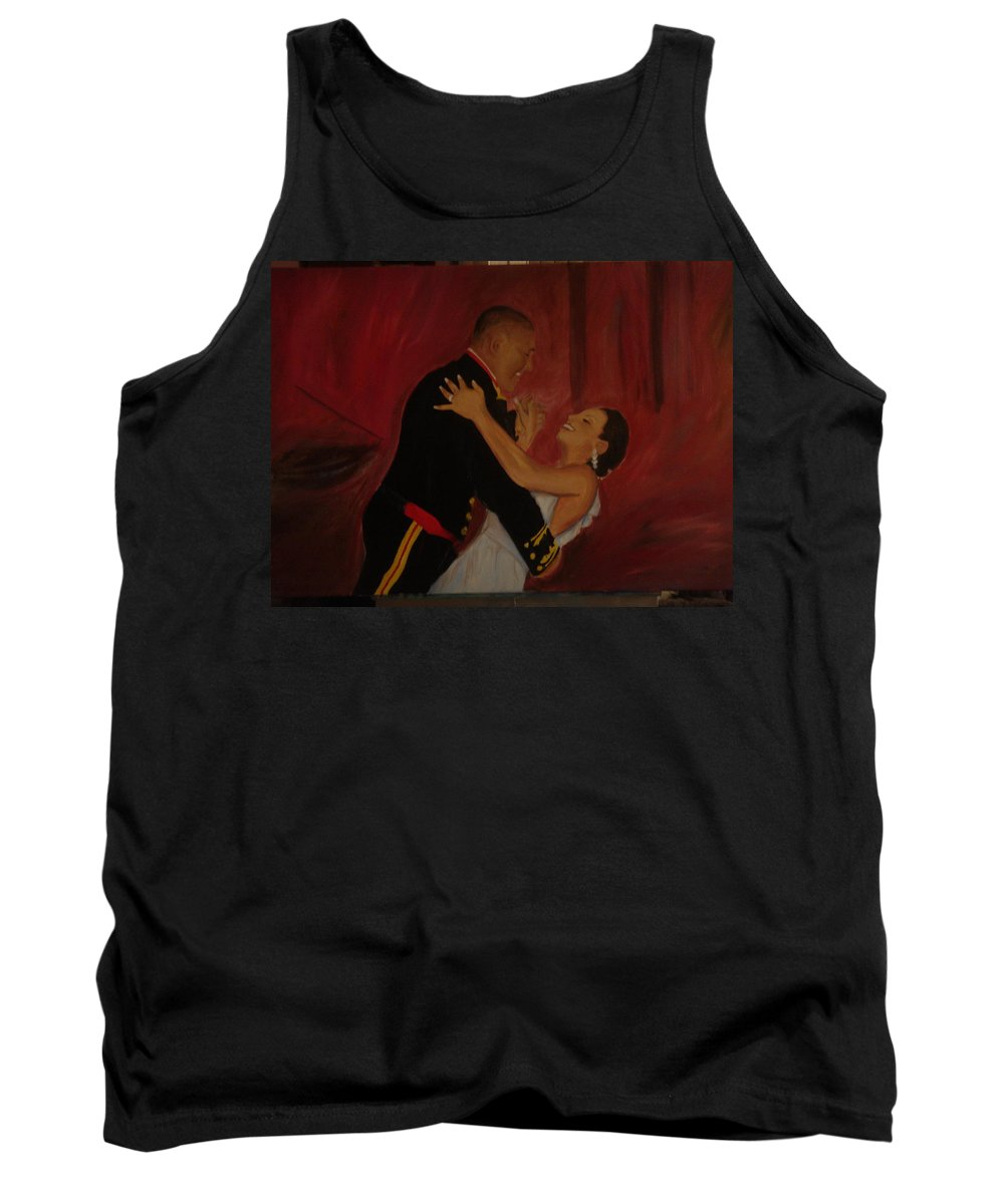 Marine Tank Top featuring the painting Just Married by Regina Walsh