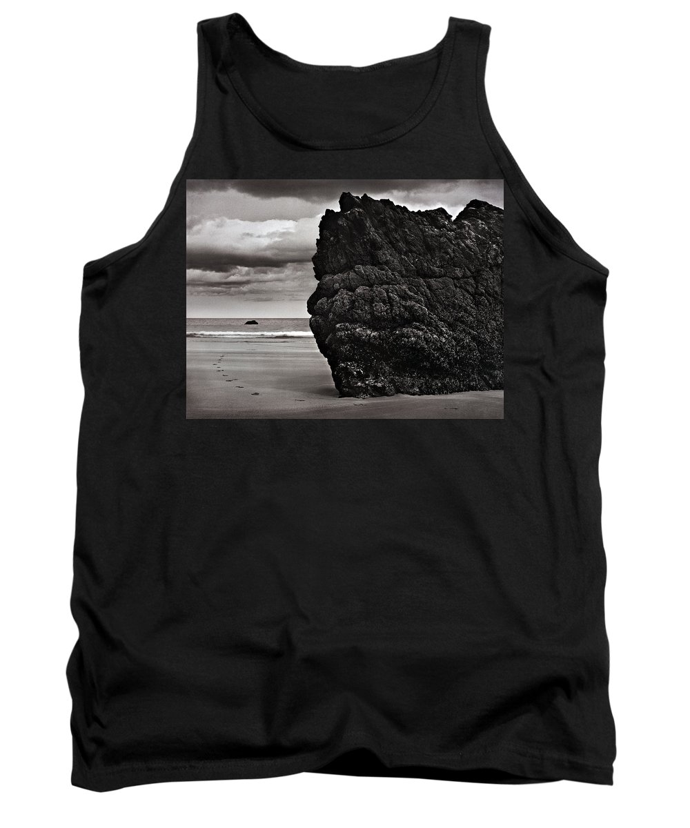 Monochrome Tank Top featuring the photograph Just Round The Corner by Sergio Bondioni
