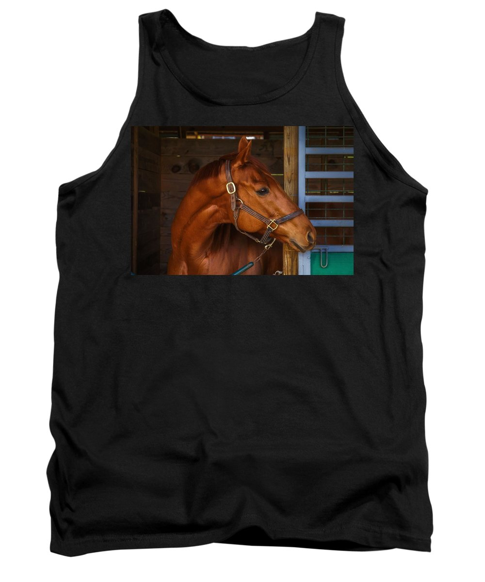 Jock Tank Top featuring the photograph Just Waiting For My Turn To Race by Robert L Jackson