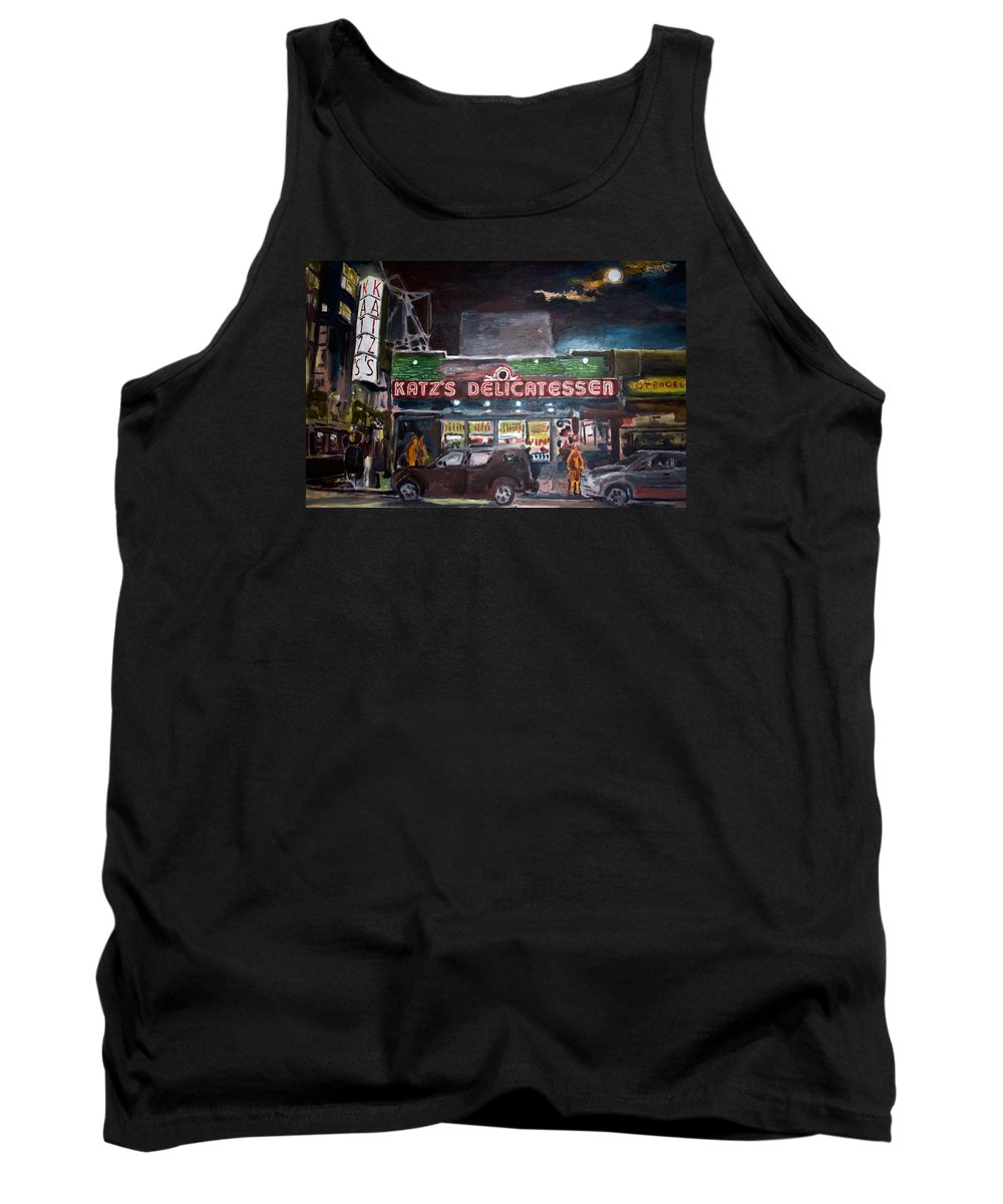 New York City Paintings Tank Top featuring the painting Katz Deli by Wayne Pearce