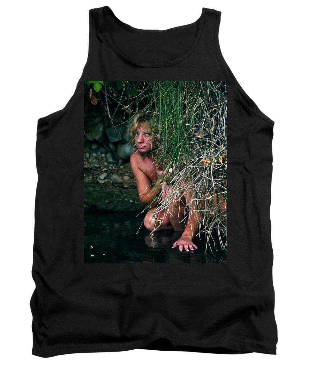Woman Nude Photo Tank Top featuring the photograph Kelly Nude by Peter Piatt