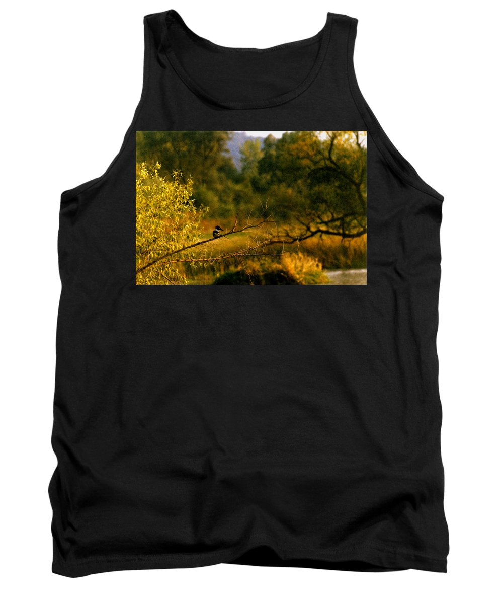 Landscape Tank Top featuring the photograph King Fisher by Steve Karol