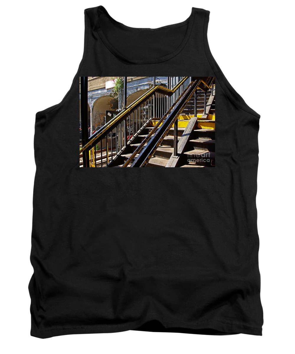Subway Tank Top featuring the photograph Kings Hwy Subway Station In Brooklyn by Zal Latzkovich