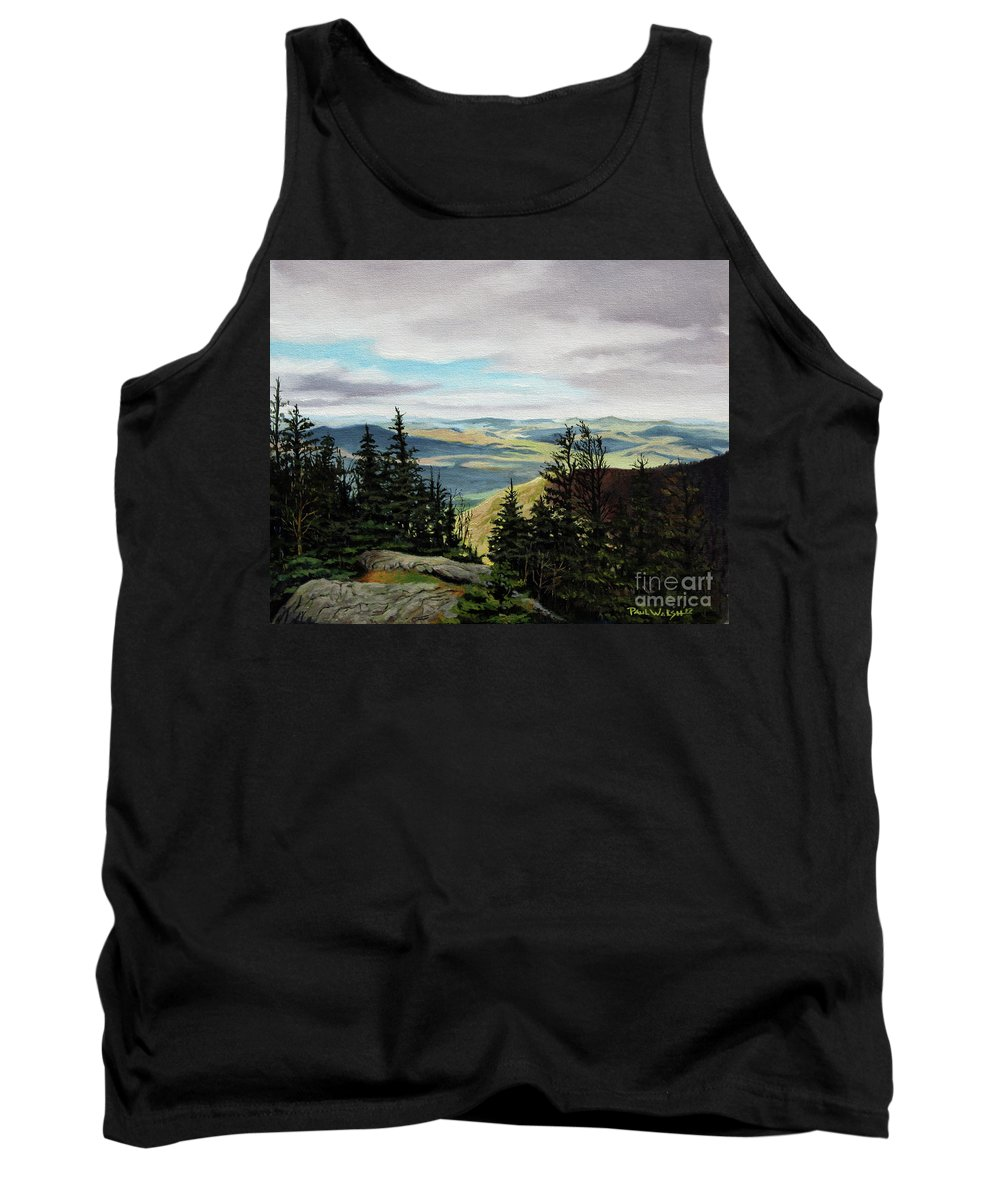 New Hampshire Tank Top featuring the painting Kings Ravine by Paul Walsh