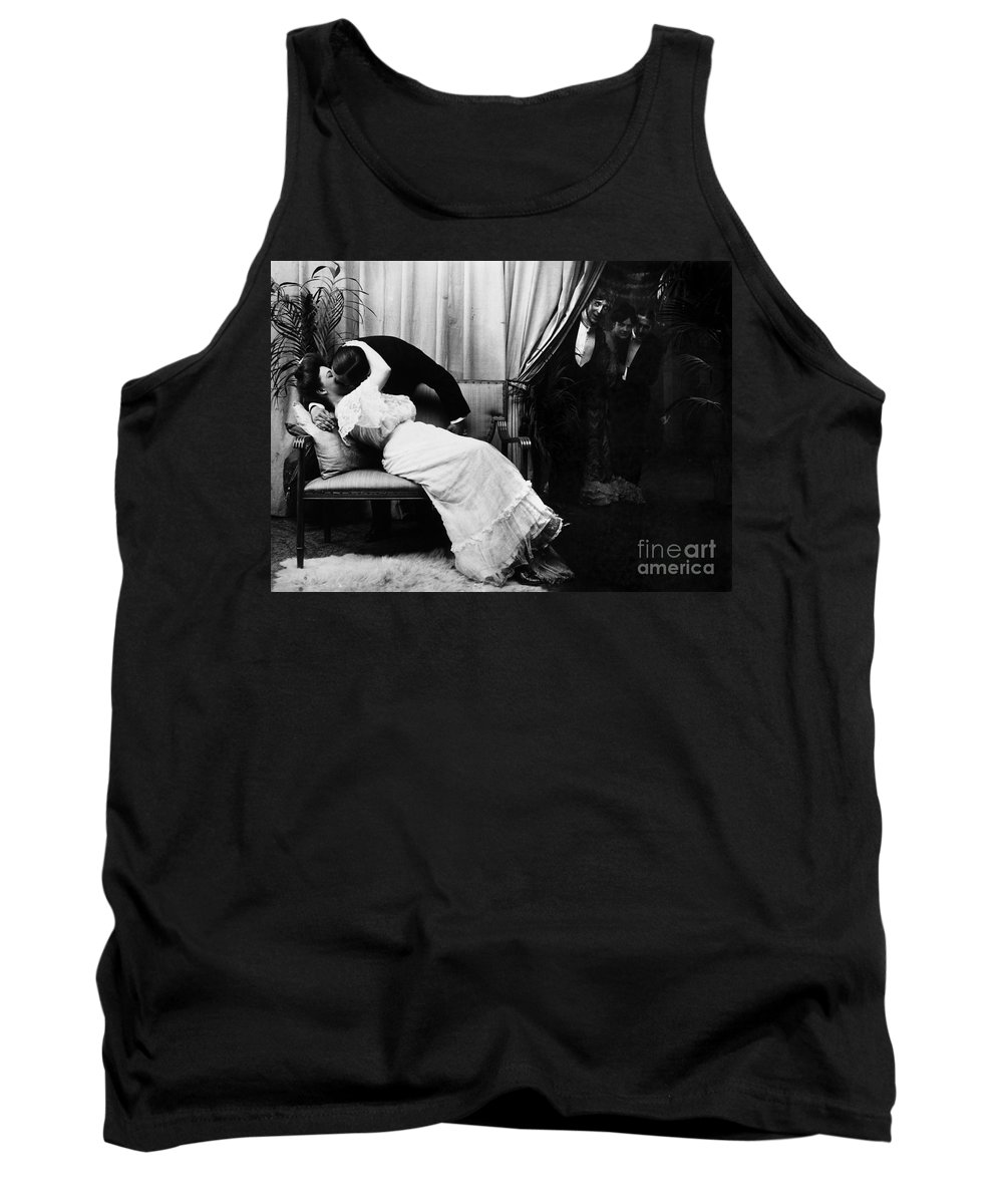 -kissing- Tank Top featuring the photograph Kissing, C1900 by Granger