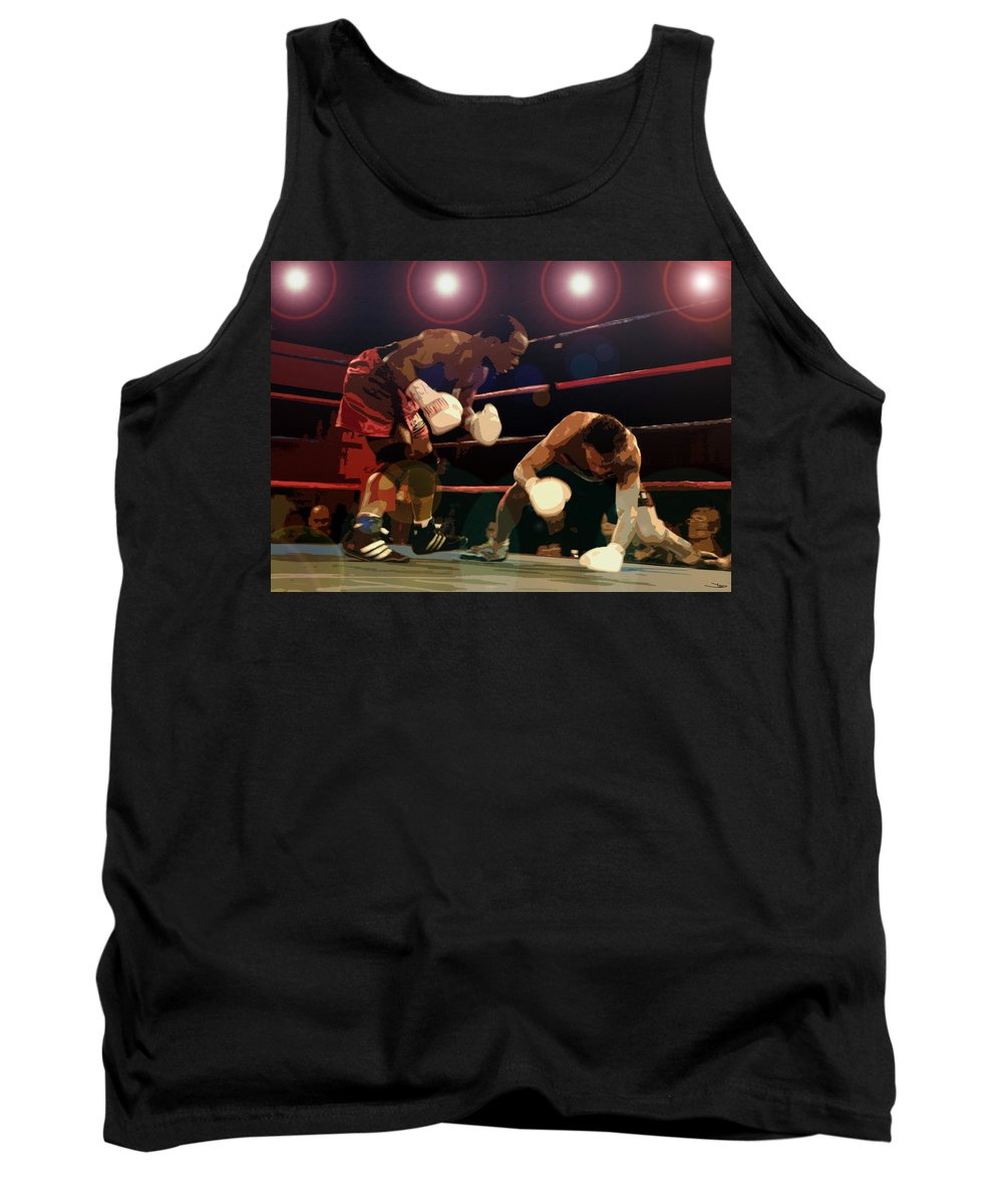 Artwork Tank Top featuring the painting Knockdown by David Lee Thompson