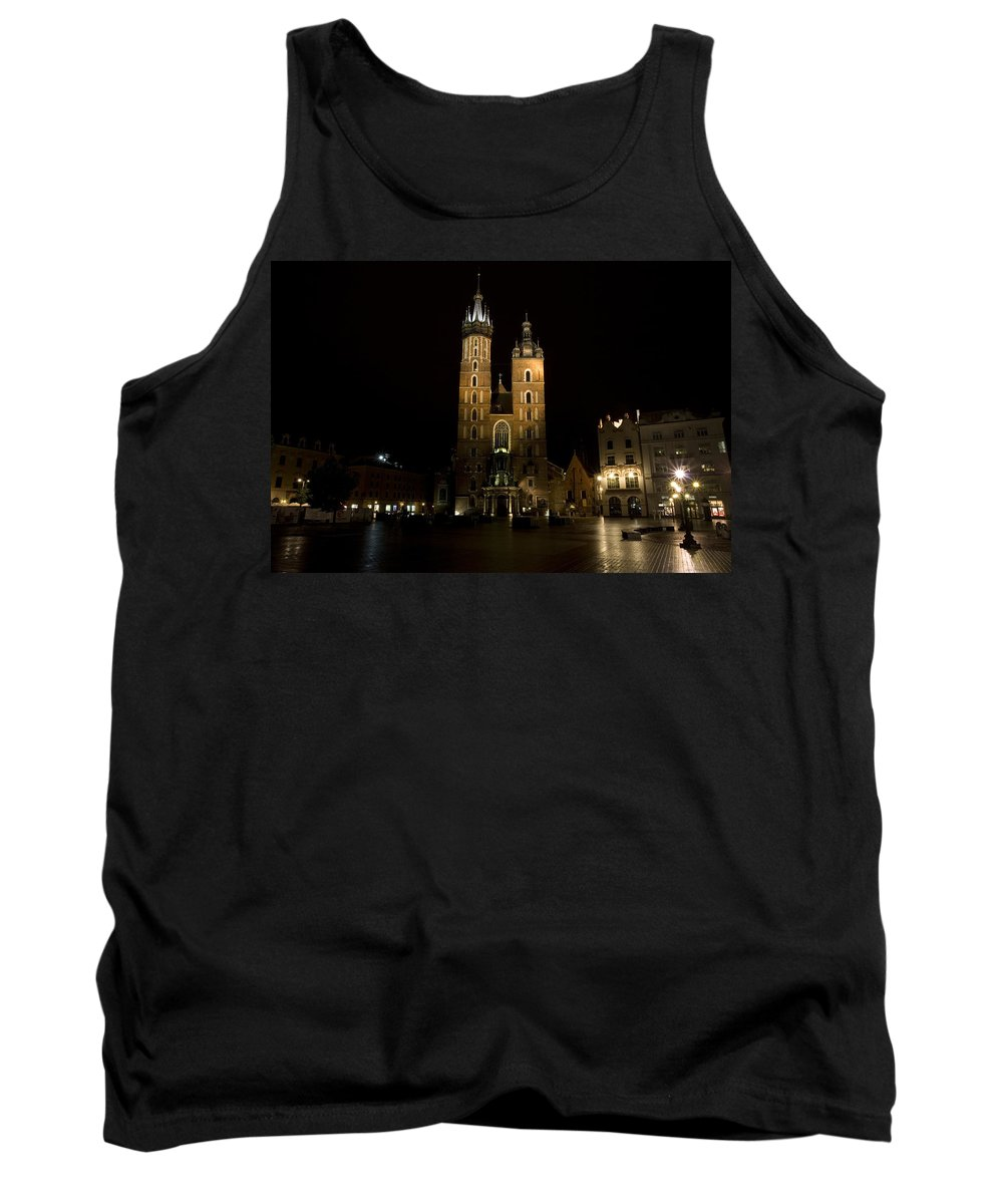 Krakow Tank Top featuring the photograph Krakow Saint Marys Basilica by Julian Wicksteed