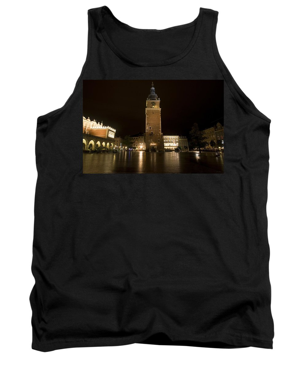Krakow Tank Top featuring the photograph Krakow Town Hall Tower by Julian Wicksteed