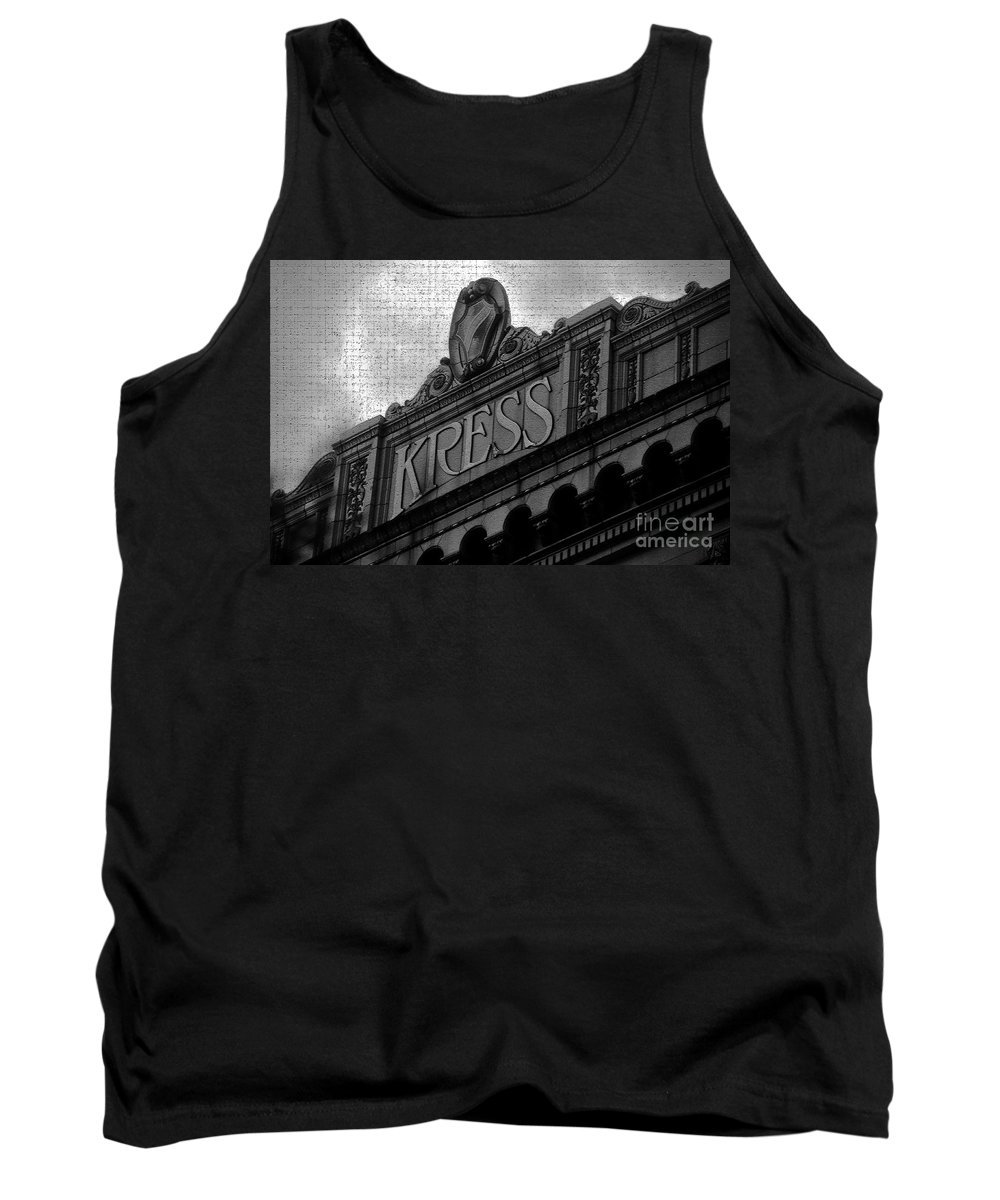 S. H. Kress Tank Top featuring the photograph Kress 1929 by David Lee Thompson