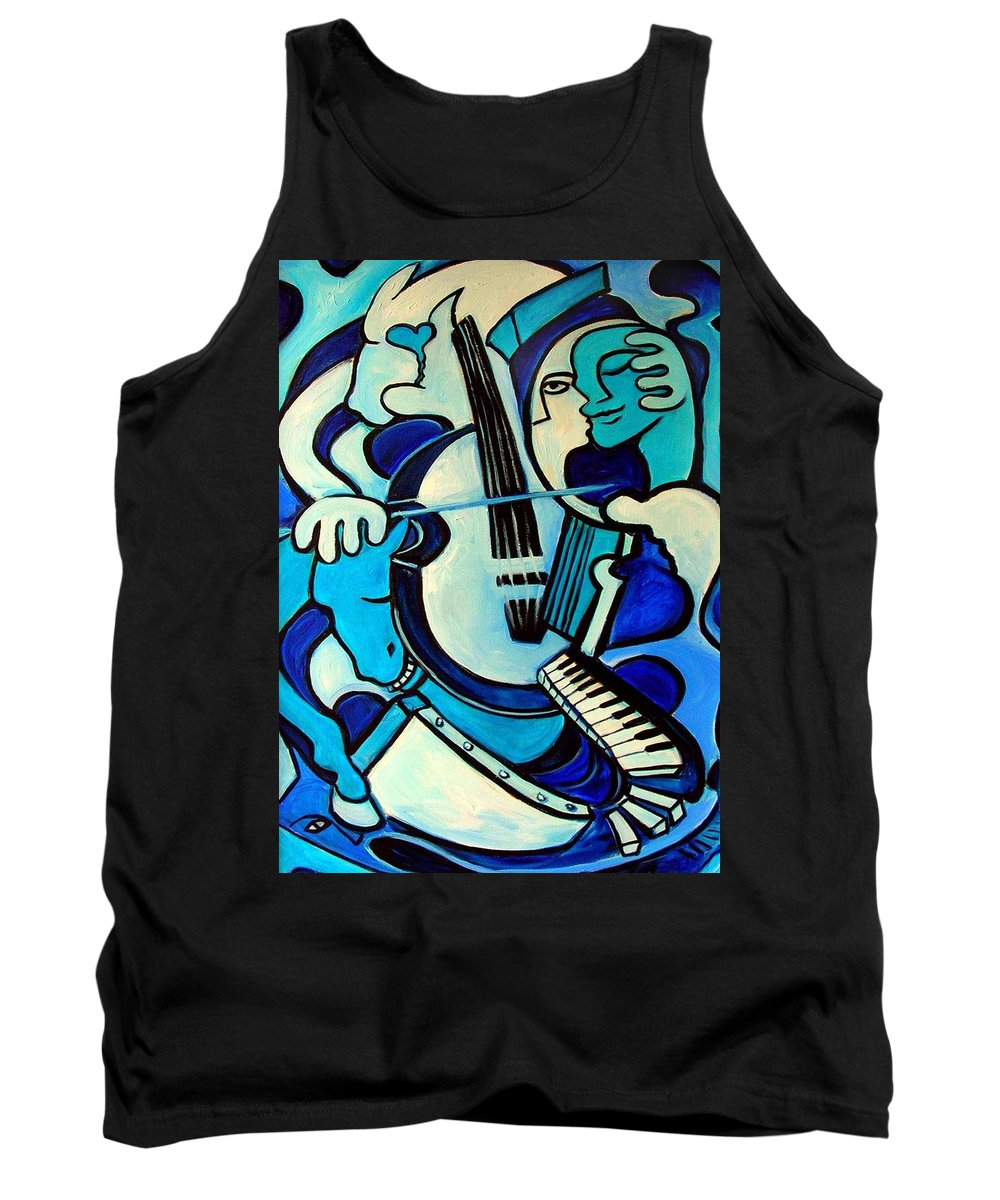 Abstract Tank Top featuring the painting L Amour Ou Quoi by Valerie Vescovi