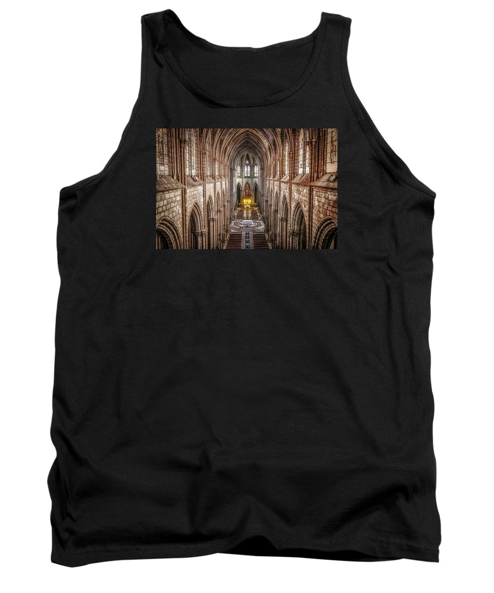 Basilica Tank Top featuring the photograph La Basilica Quito by Dennis Herzog