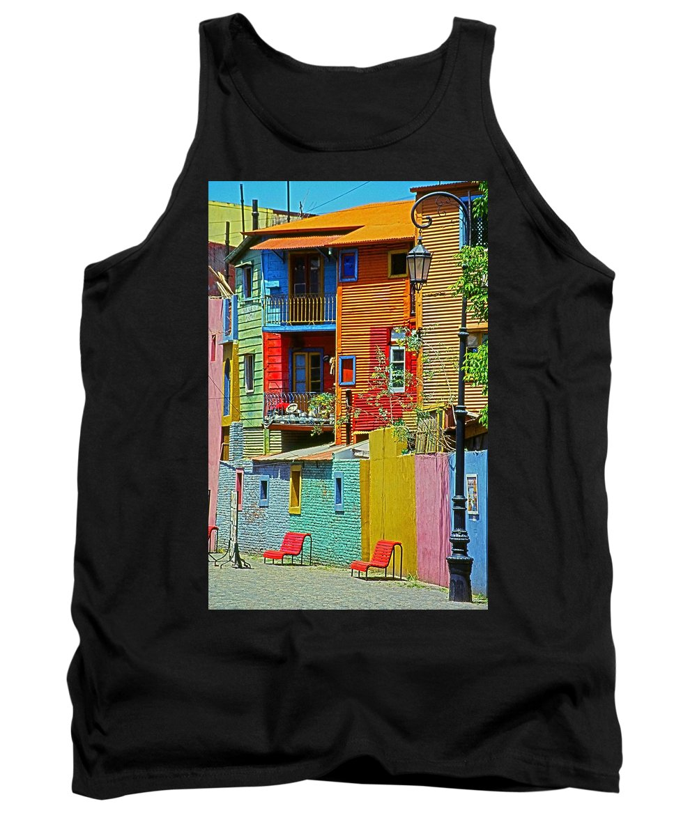 South America Tank Top featuring the photograph La Boca - Buenos Aires by Juergen Weiss