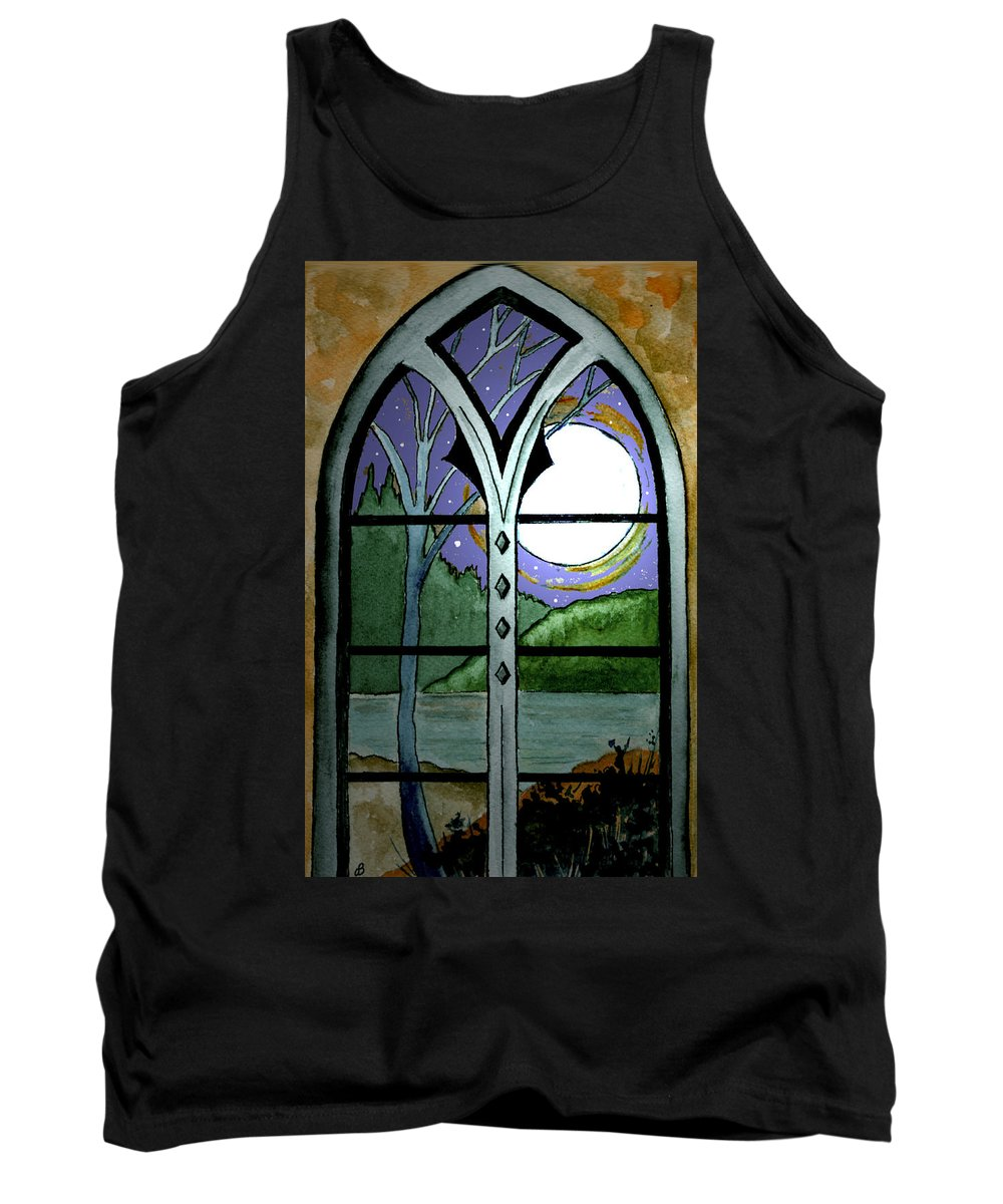 Landscape Tank Top featuring the painting La Luna by Brenda Owen