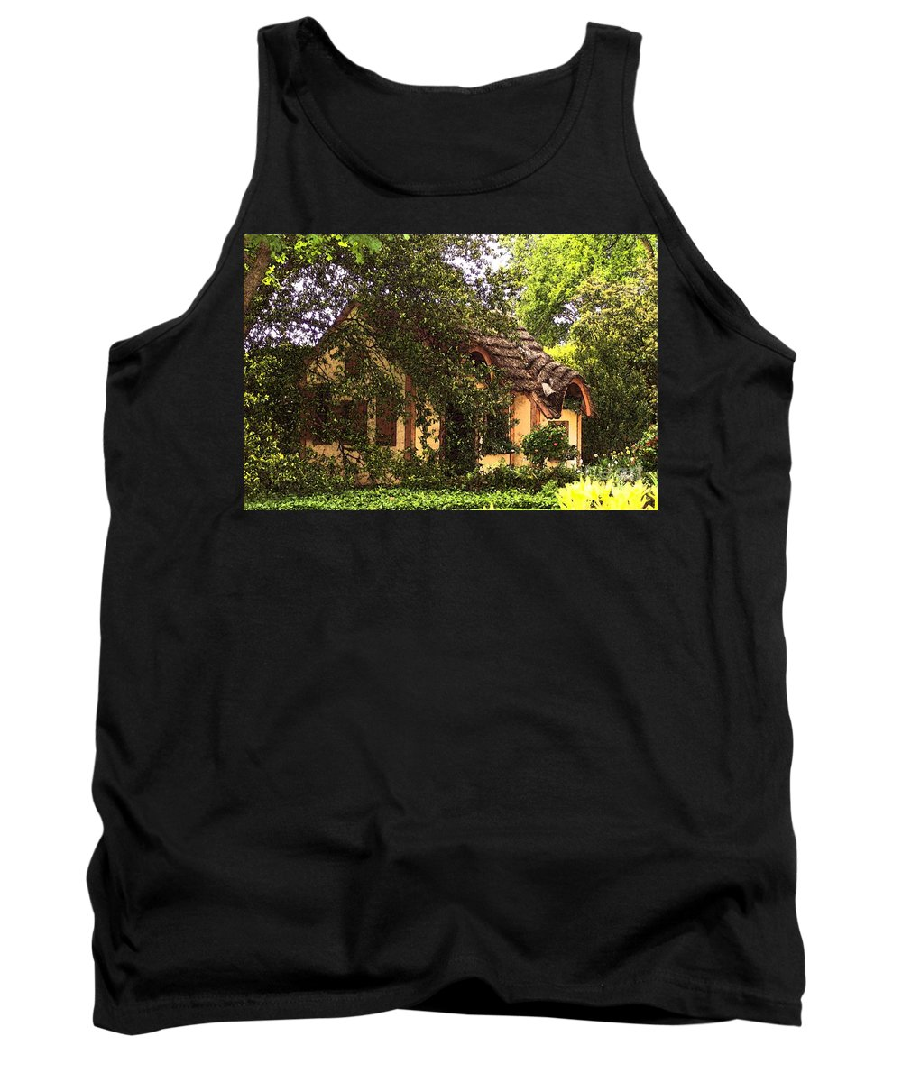 Cottage Tank Top featuring the photograph La Maison by Debbi Granruth