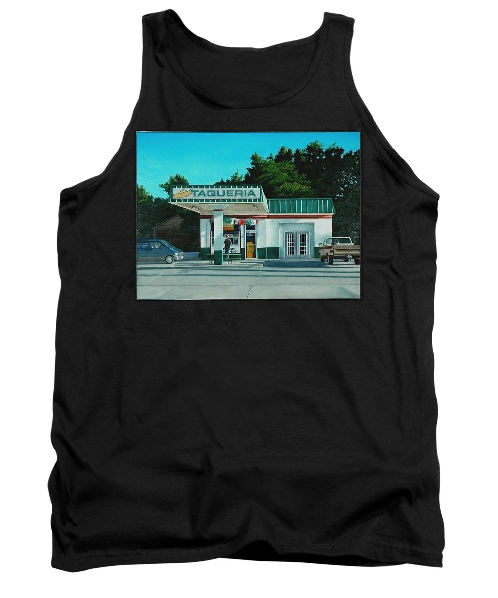 Taqueria Tank Top featuring the painting La Taqueria by Robert Smith