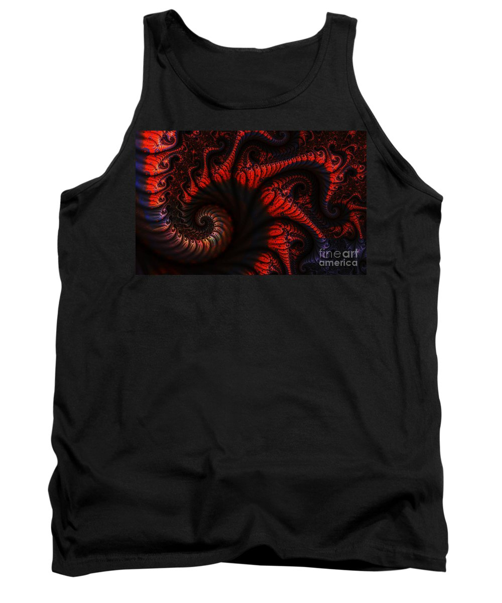 Clay Tank Top featuring the digital art Labyrinth by Clayton Bruster