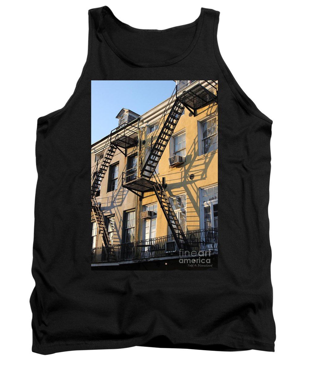 Architecture Tank Top featuring the photograph Ladders by Todd Blanchard