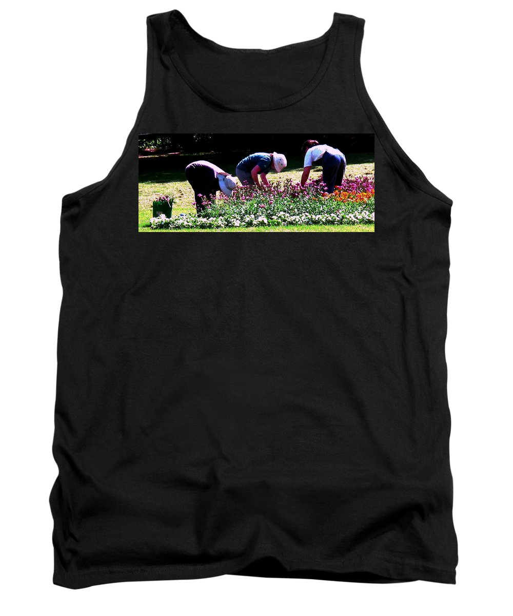 Women Tank Top featuring the photograph Ladies At Work by Ian MacDonald