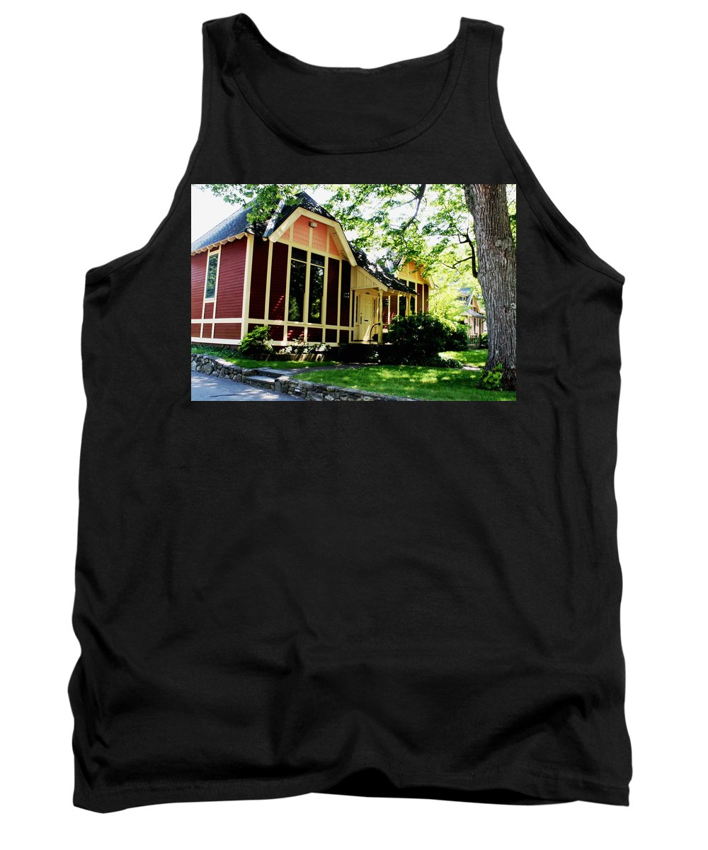 Building Tank Top featuring the photograph Ladies Library Brewster Ma by Donna Walsh