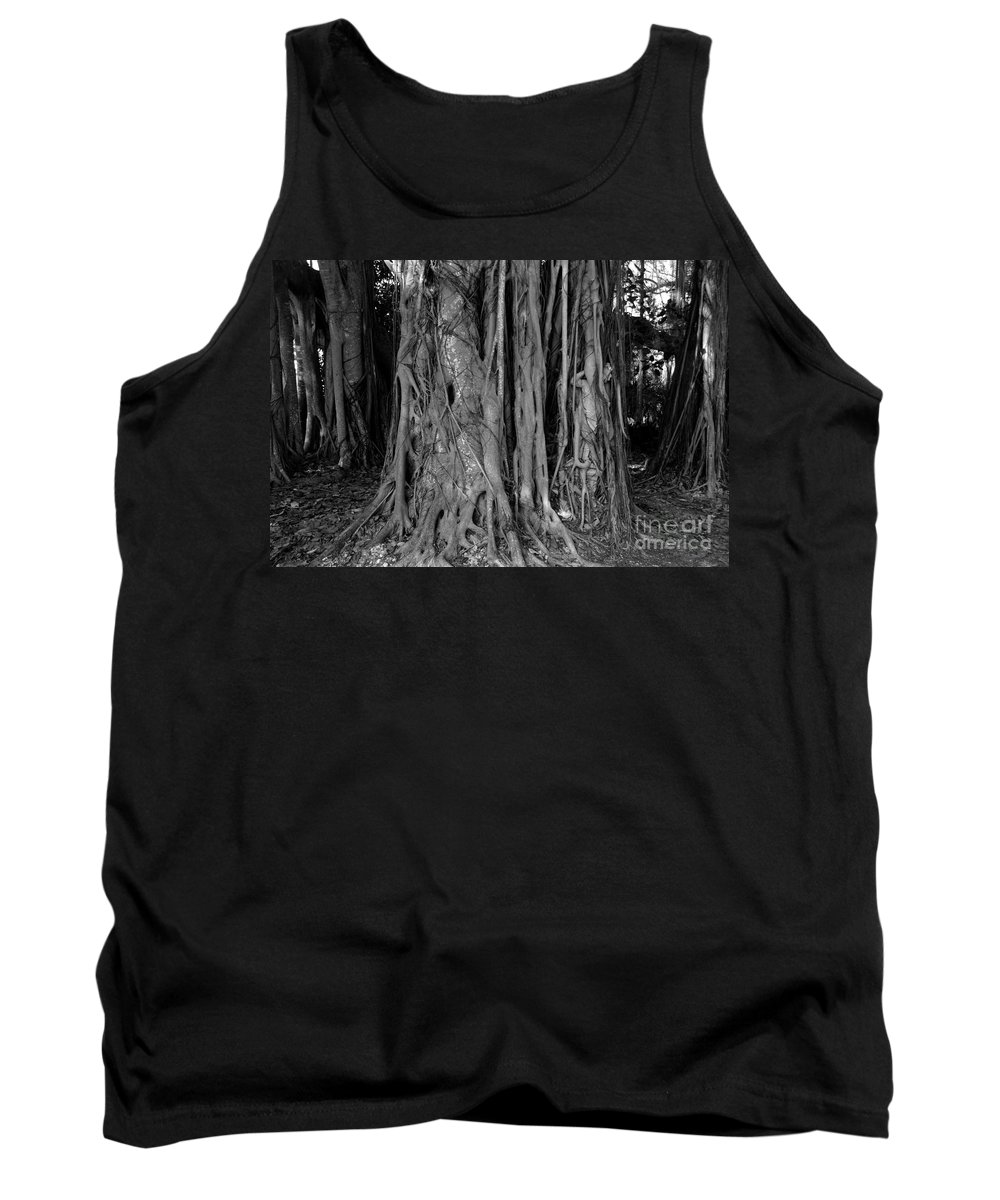 Banyan Trees Tank Top featuring the photograph Lady In The Banyans by David Lee Thompson