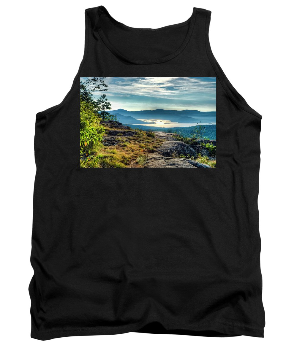 Lake George Tank Top featuring the photograph Lake George From Cat Mountain 1 by Tony Beaver