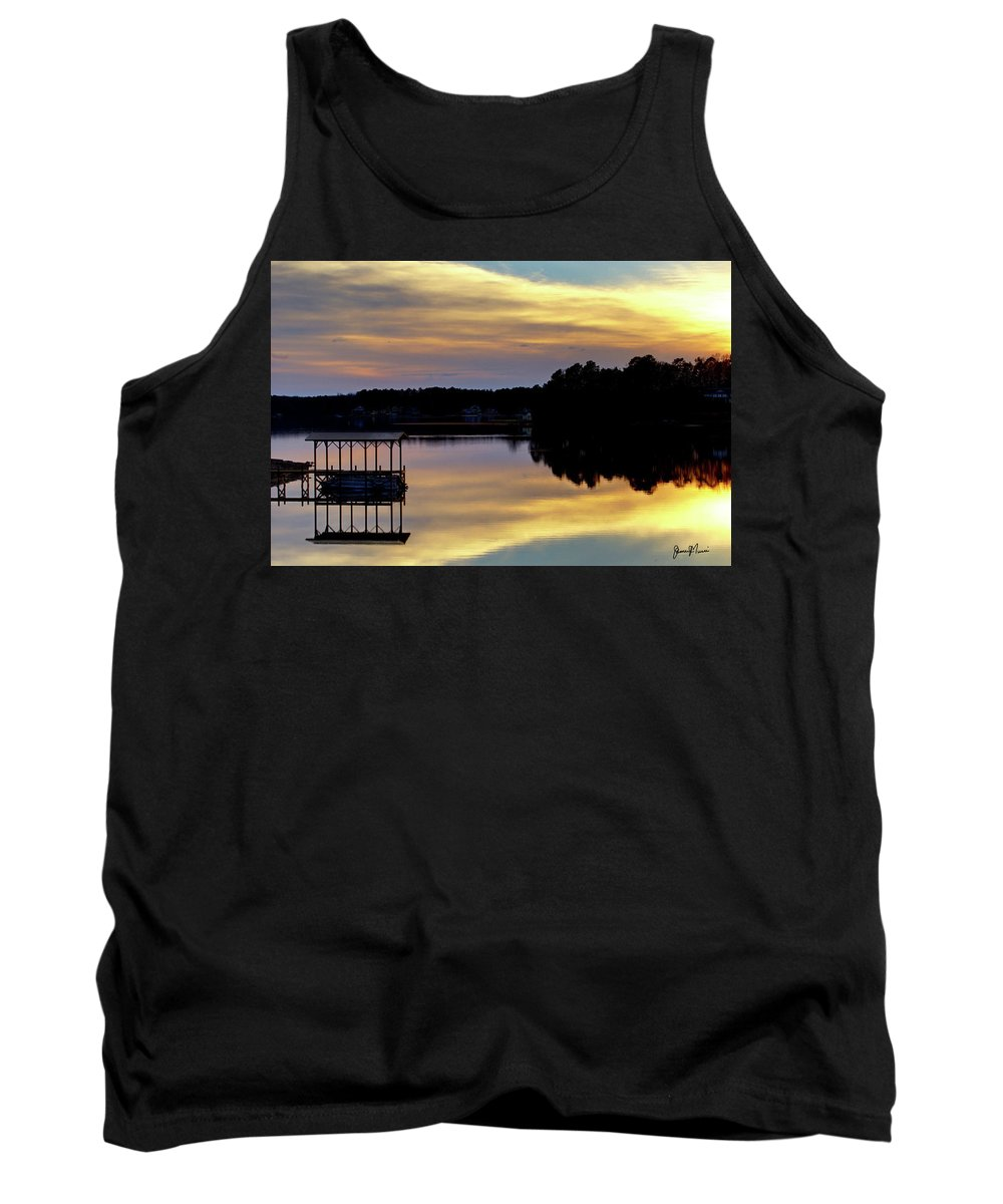 Landscape Tank Top featuring the photograph Lake Greenwood by Jim Turri