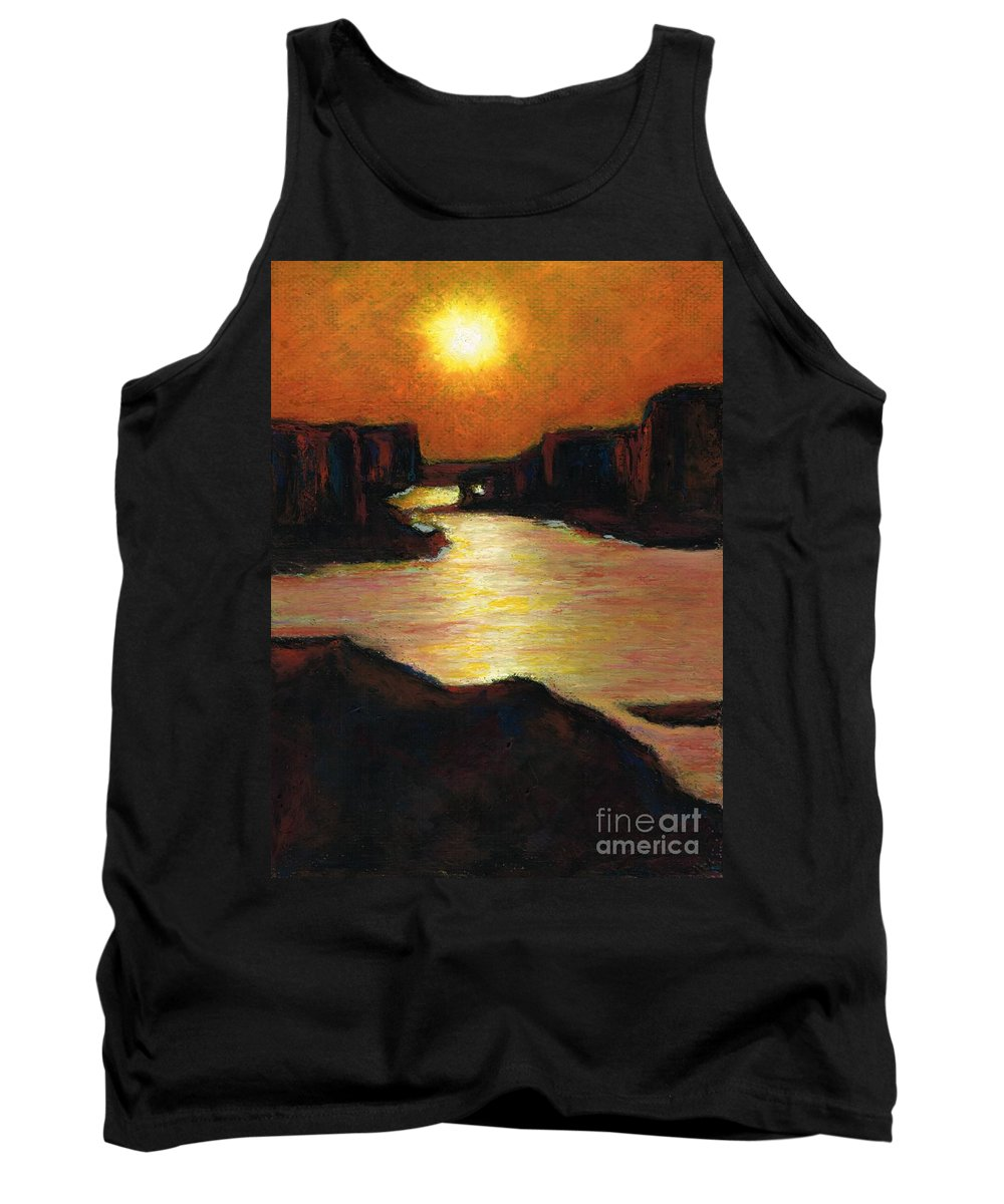 Lake Powell Tank Top featuring the painting Lake Powell At Sunset by Frances Marino