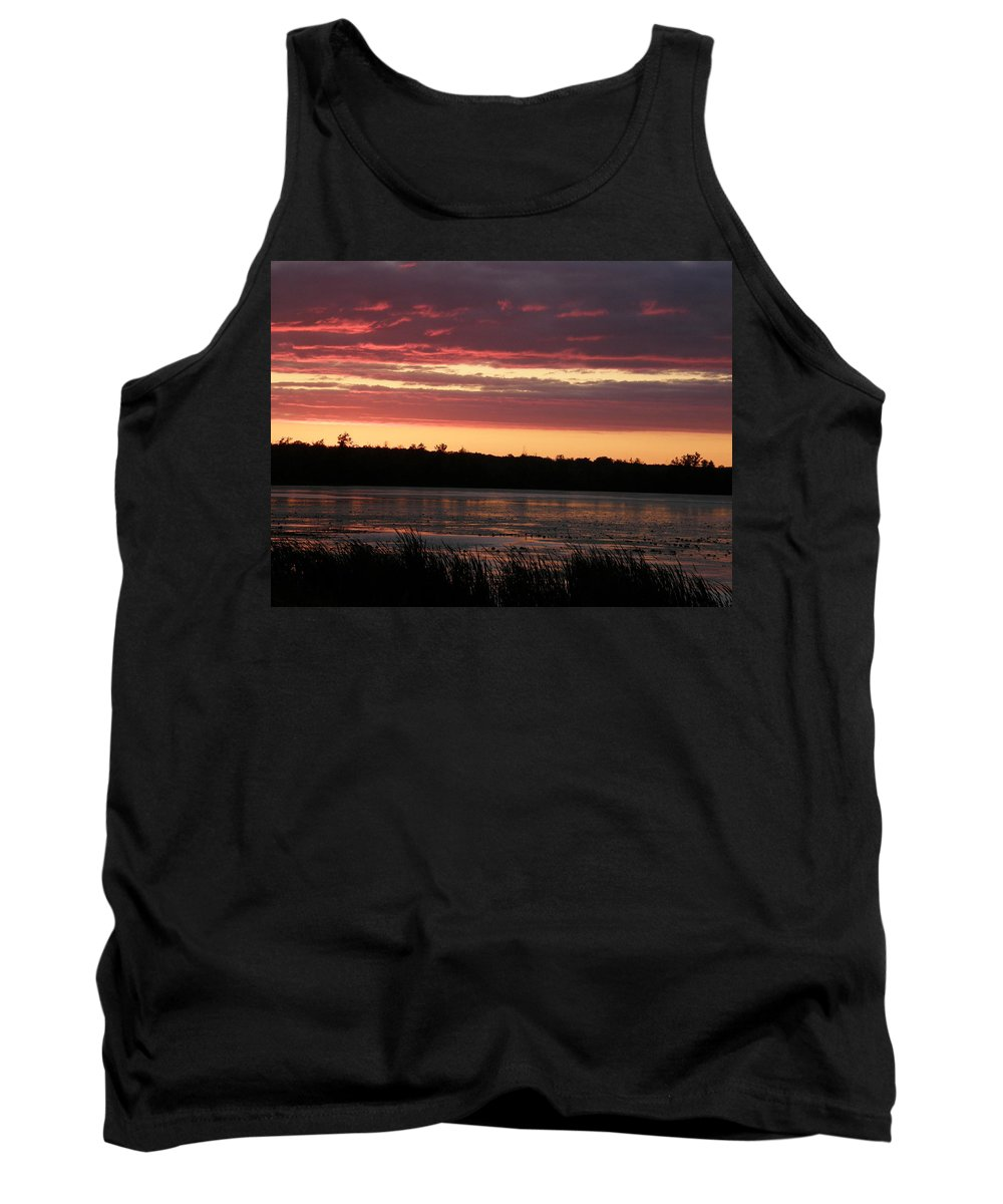 Sunset Tank Top featuring the photograph Lake Sunset by Alice Markham