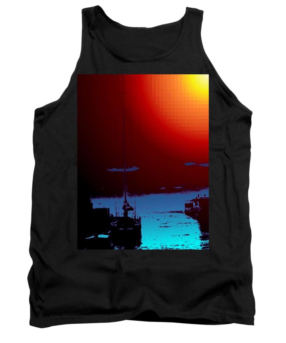 Seattle Tank Top featuring the photograph Lake Union Moorage by Tim Allen