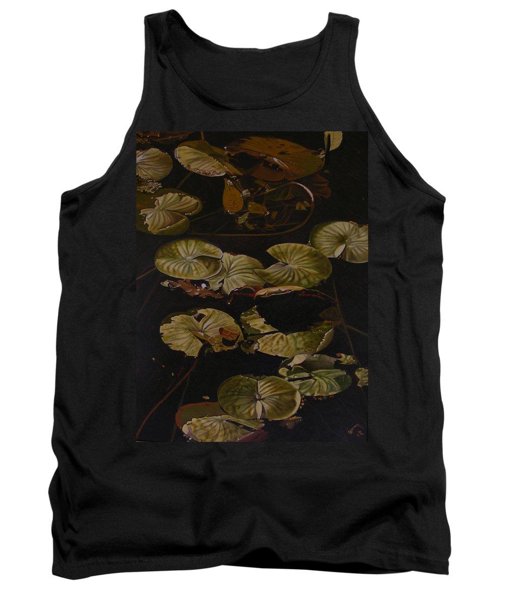 Lilypad Tank Top featuring the painting Lake Washington Lily Pad 9 by Thu Nguyen