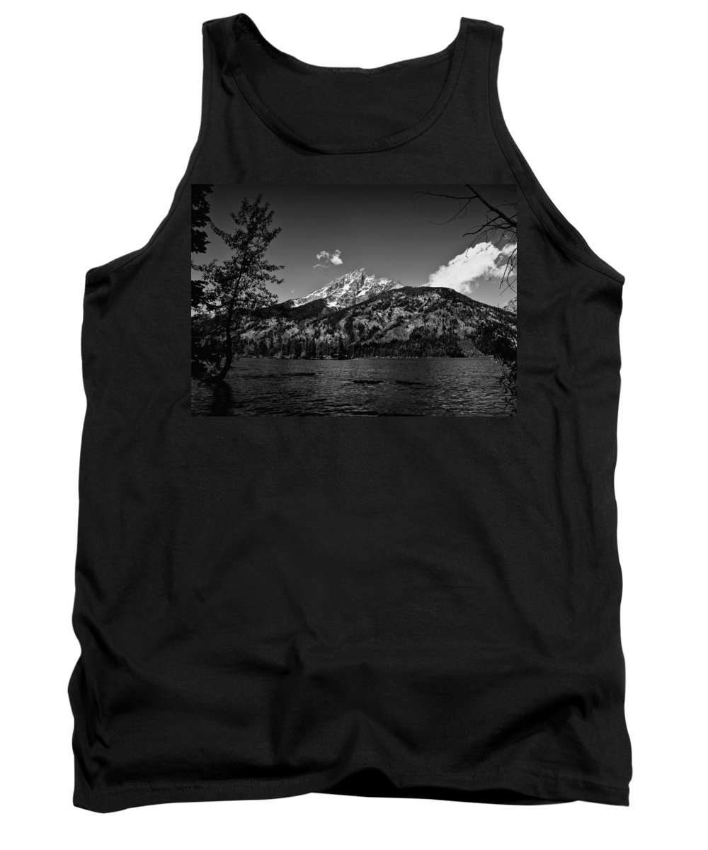 Black And White Tank Top featuring the photograph Lakeside by John K Sampson