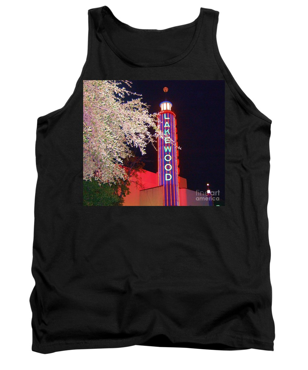Theater Tank Top featuring the photograph Lakewood Theater by Debbi Granruth