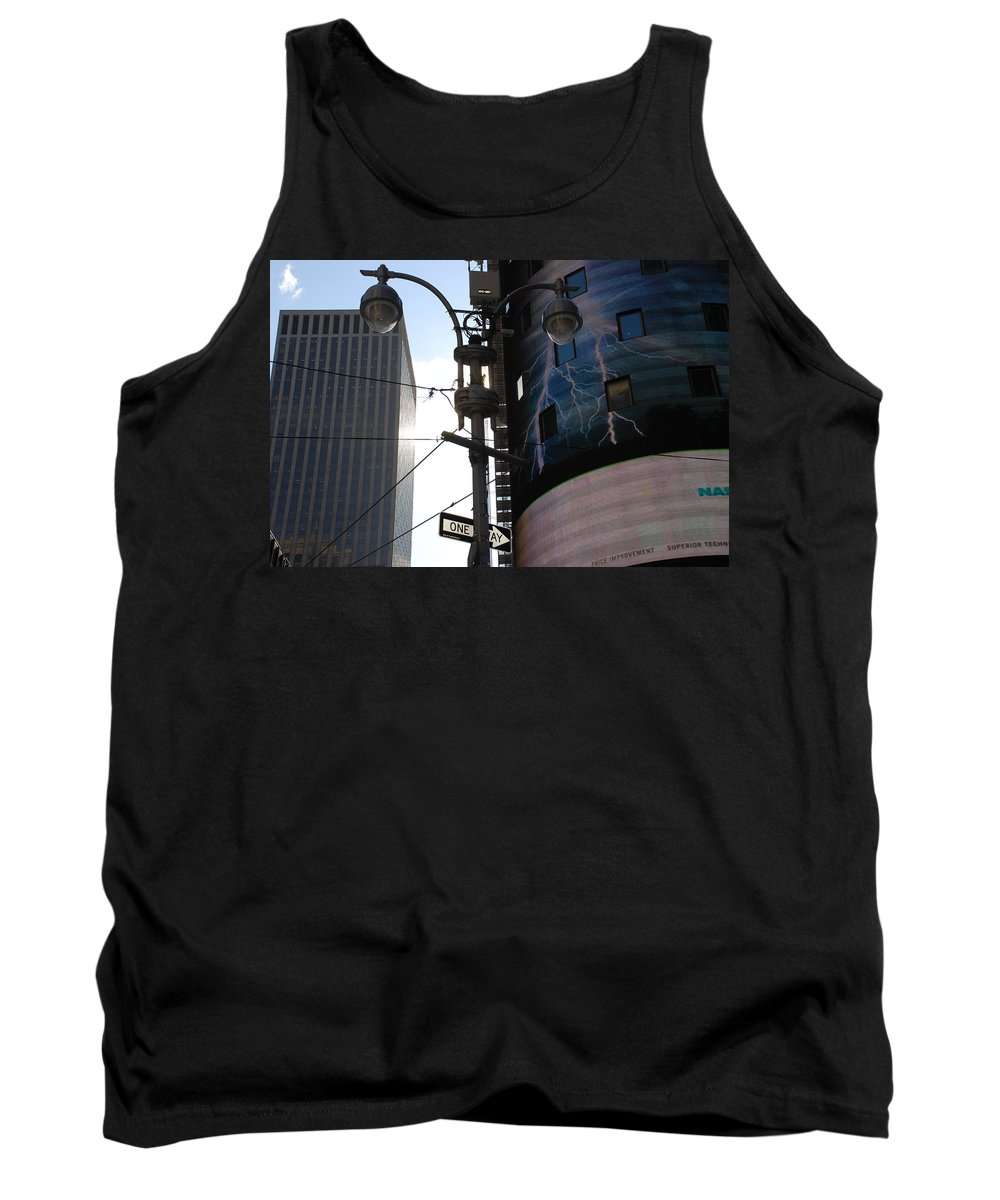 Scenic Tank Top featuring the photograph Lampost And Lightning by Rob Hans