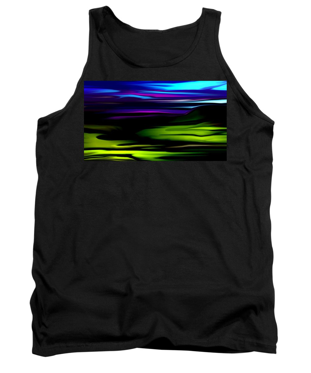 Abstract Expressionism Tank Top featuring the digital art Landscape 8-05-09 by David Lane